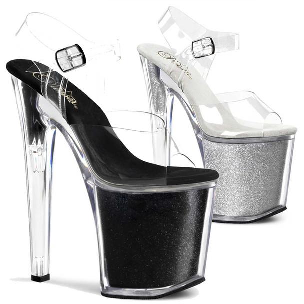 Ankle Strap Glitters Platform Sandal Stripper Shoes XTREME-808G