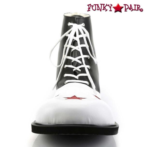 CLOWN-02, Clown Shoe with Stars   Funtasma Front View