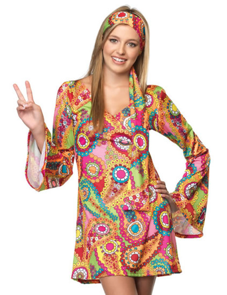 LA-J48013, Teen Hippie Chick Costume