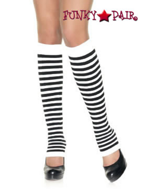 3908, Opaque Striped Leg Warmers