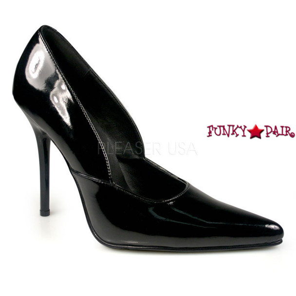 Black Milan-01, 4.5 Inch High Heel Classic Pump Made By PLEASER Shoes