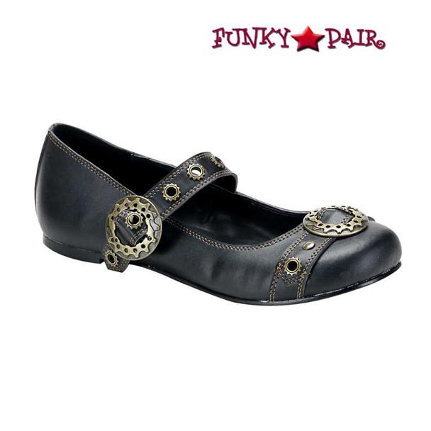 Demonia Shoes   DAISY-09, Steampunk Maryjane Flats