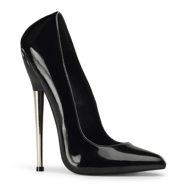 Fetish Brass Heel Pump Devious | Dagger-01