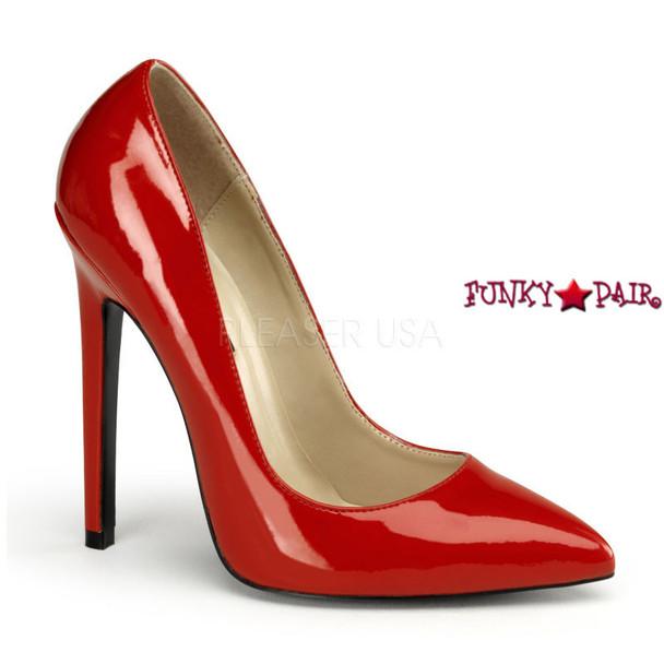Red Sexy-20, 5 Inch High Heel Stiletto Heel Pointy Toe Pump