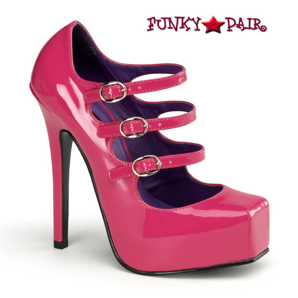 Hot Pink Square Toe Mary Jane Shoes