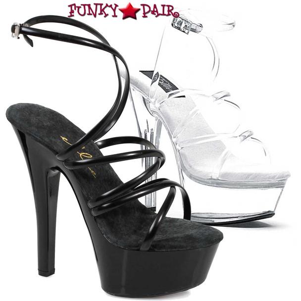 "Ellie Shoes | 601-Sophia 6"" Strappy Ankle Wrap Sandal"