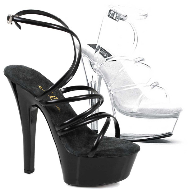 """6"""" Strappy Ankle Wrap Sandal by Ellie Shoes 601-Sophia"""