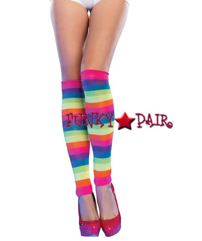 3981, Neon Rainbow Leg Warmers