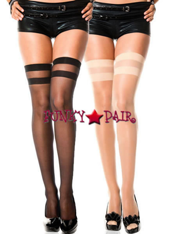 ML-4200, Opaque Striped Stockings