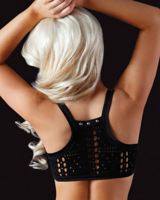 VV015BK, Hang Tough Lace Up Top back view