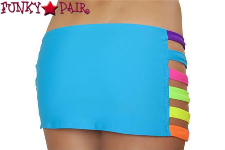 J. Valentine   SF136, Band Skirt Color Turquoise/Multi