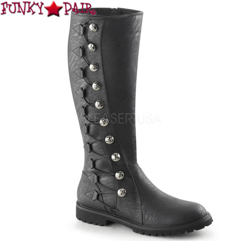 Gotham109, Men's Cosplay Knee High Button Lace Up Boots