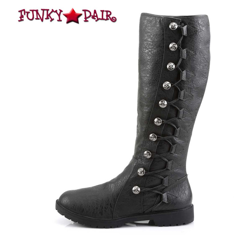 Funtasma   Gotham-109, Men's Cosplay Knee High Button Lace Up Boots Side View