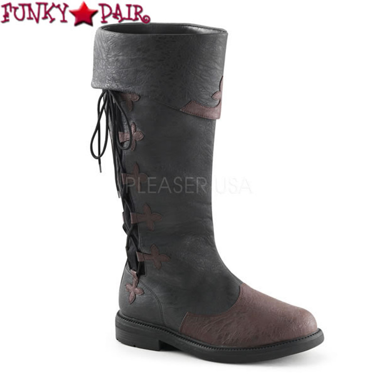 Funtasma | Captain-110, Men's Knee High Pull-On Costume Boots