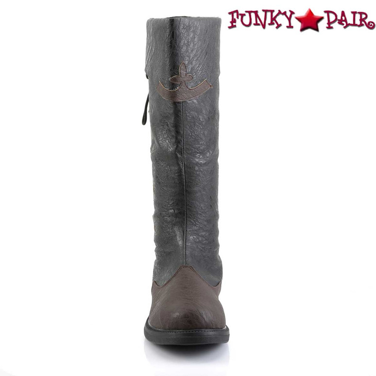 Funtasma | Captain-110, Men's Knee High Pull-On Boots | Front View