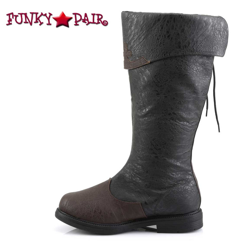 Side View Captain-110, Men's Cosplay Knee High Pull-On Boots | Funtasma