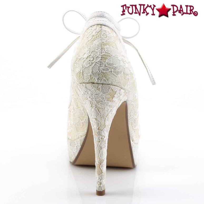 "Back View Lolita-32, 5"" Lace Overly Bootie 