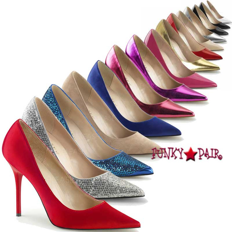 Classique-20, 4 inch Pointed Toe Pump Made By PLEASER Shoes
