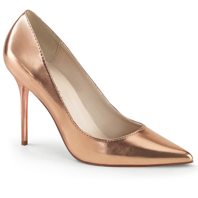 Classique-20, 4 inch Pointed Toe Pump color rose gold