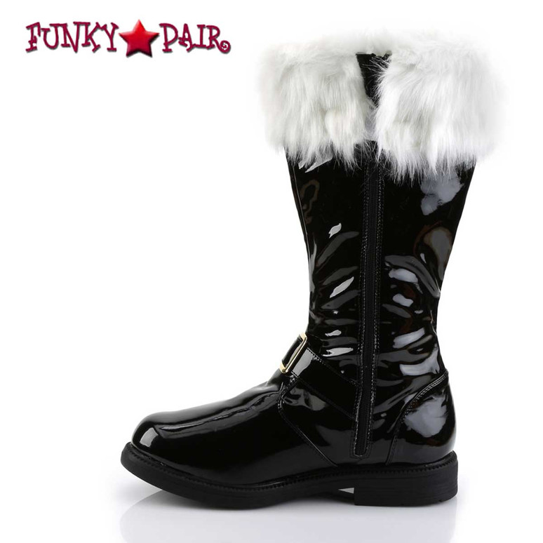Santa-102 Zipper Side View Boots with Removable Cuffs