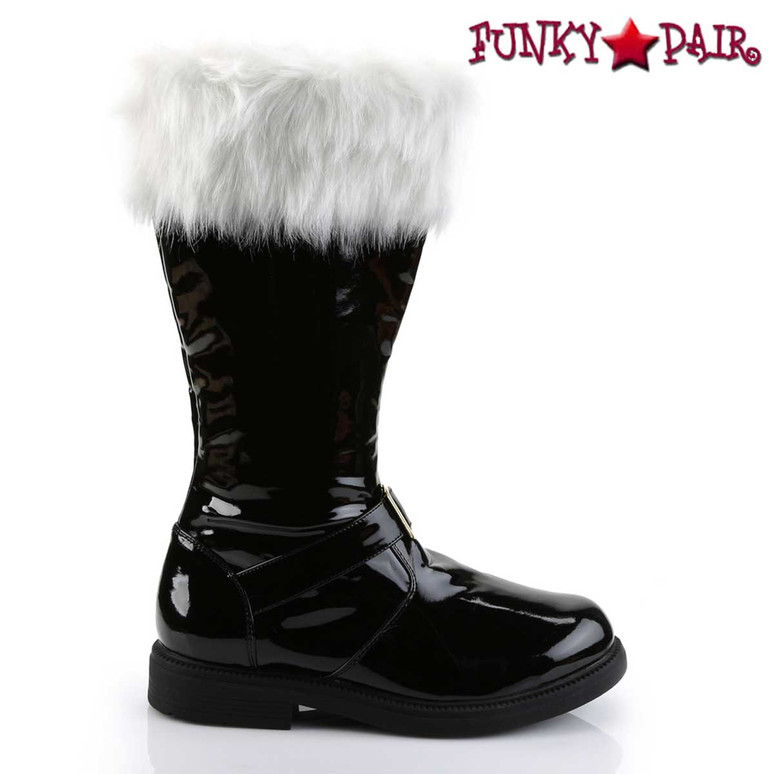 Santa-102 Side View Boots with Removable Cuffs | Funtasma