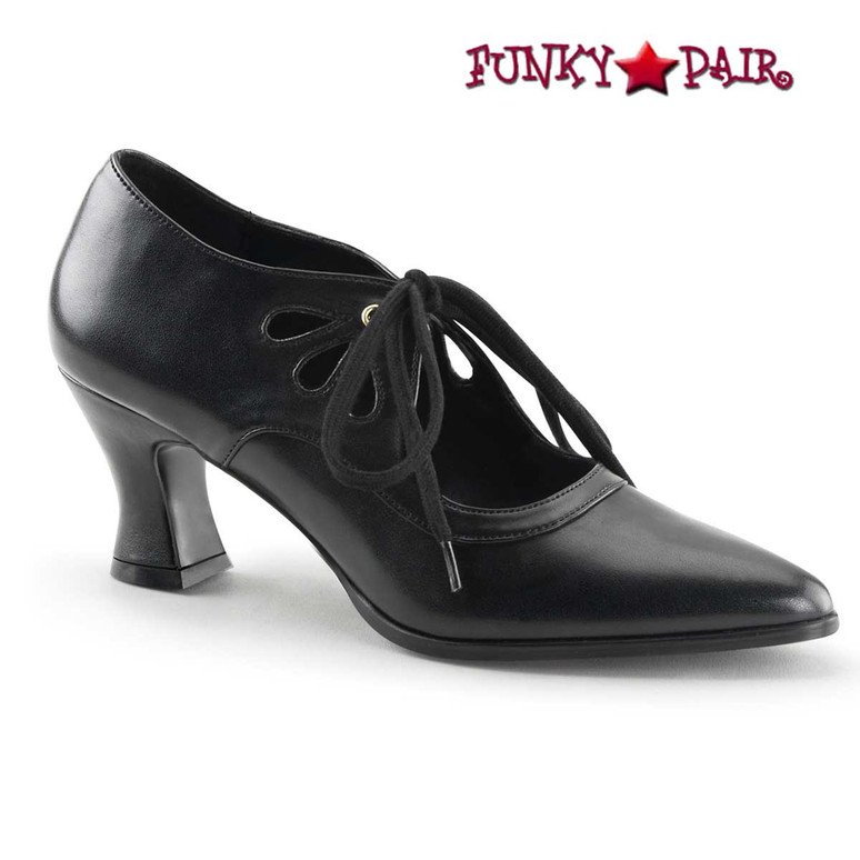 Funtasma Shoes | Victorian-03, Black Kitten Heel Costume Pump
