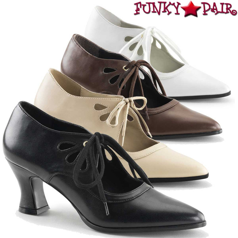 Funtasma Victorian-03 Shoes, Kitten Heel Costume Pump