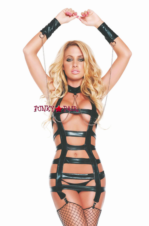 TL2730, Cage Dress and Thong