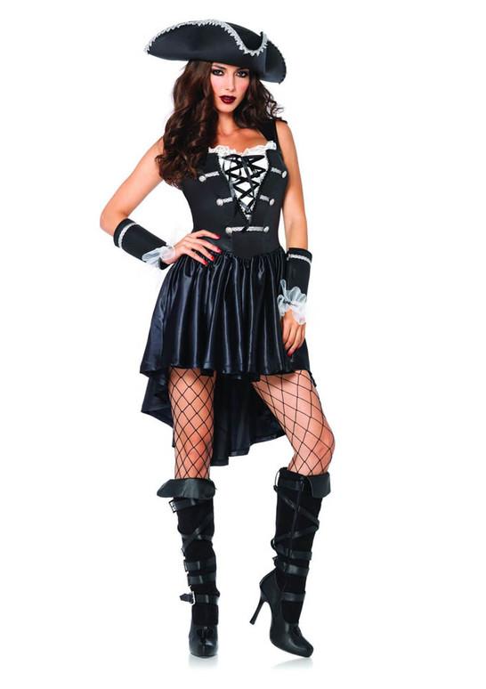 Leg Avenue LA-85210, Women's Captain Black Heart Costume