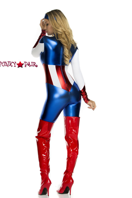 52pc Super hero costumes includes a catsuit and headband5