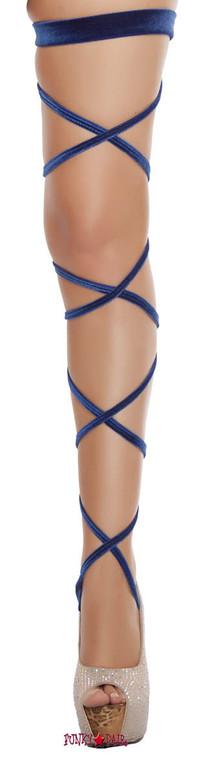 Black Velvet Leg Wrap