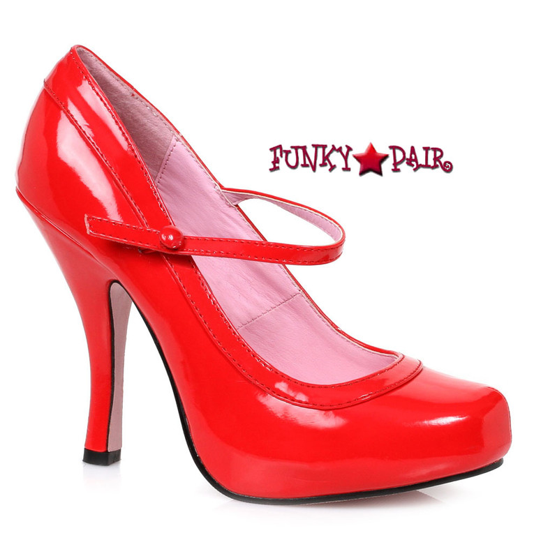 "Red  4"" School Girl Mary jane Pump Ellie Shoes 