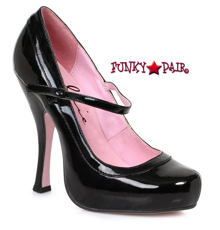 "Black 4"" School Girl Maryjane Pump Ellie Shoes 