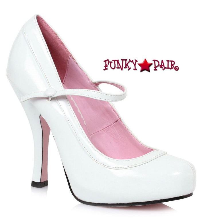 "White 4"" School Girl Maryjane Pump Ellie Shoes 
