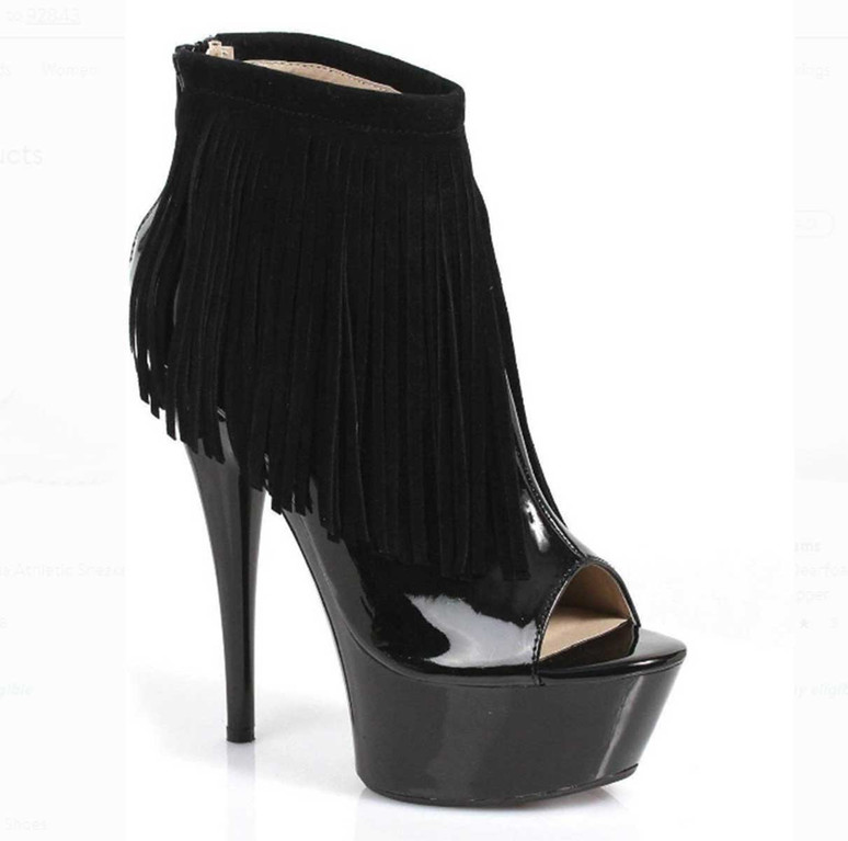 "6"" Fringe Ankle Boots 