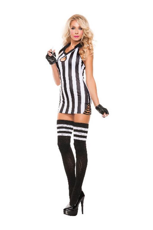 Sexy Halter Referee Costume (S5117)