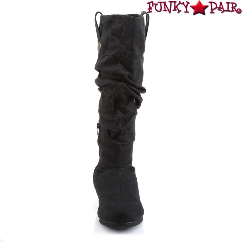 Men's Cosplay Black Renaissance-104 Boot | Funtasma Front View