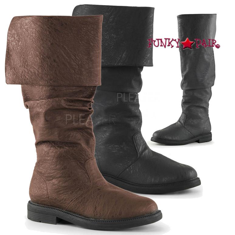 Robinhood-100, 1 inch Cuff Knee High Boot | Funtasma