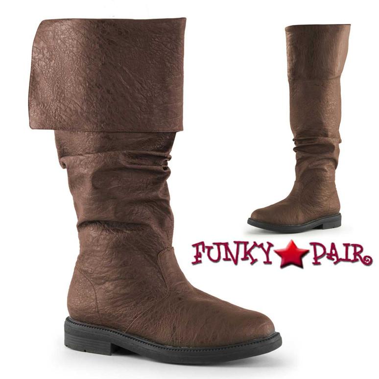 Brown Men's Robinhood-100 Cosplay Knee High Boot | Funtasma