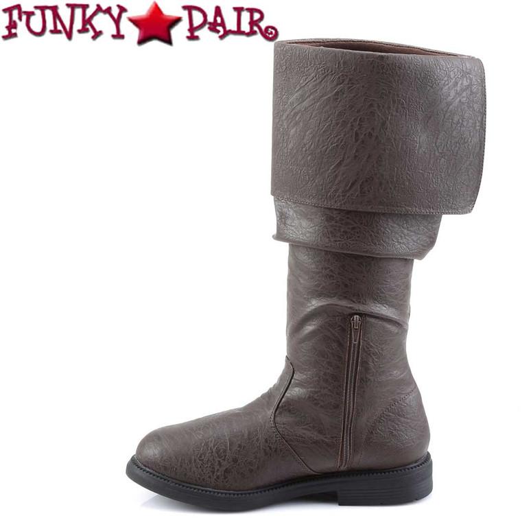 Funtasma | Men's Robinhood-100 Cosplay Knee High Boot Zipper Side View