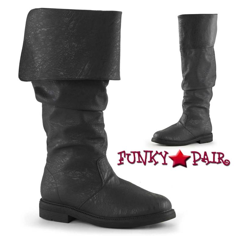 Black Men's Robinhood-100 Cosplay Knee High Boot| Funtasma