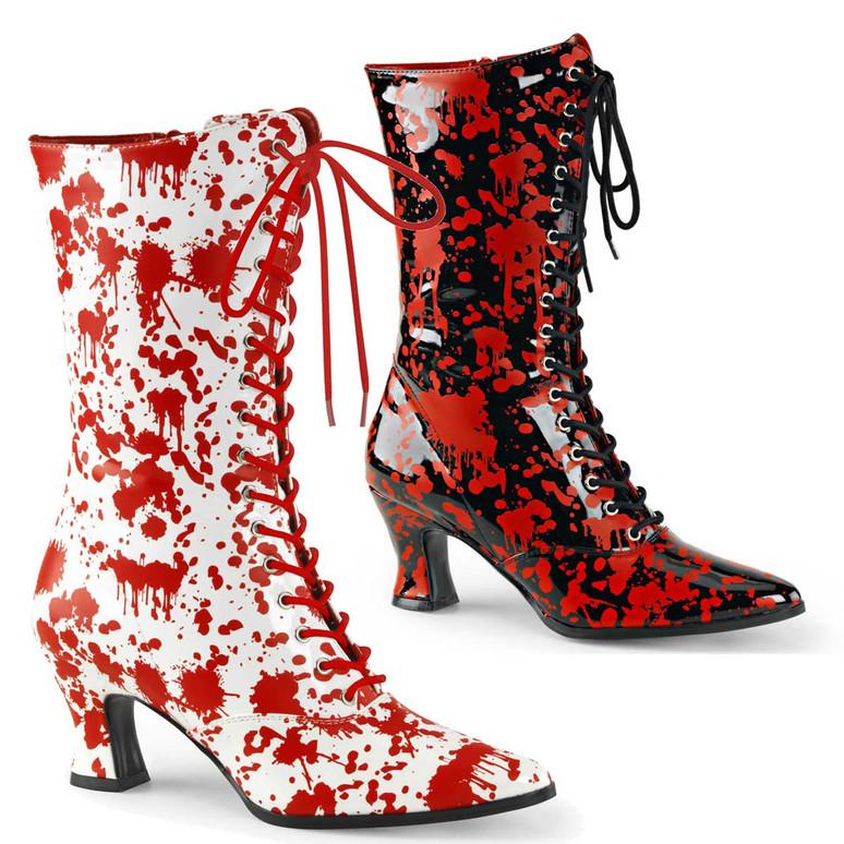 Bloody Print Costume Boots   Funtasma Victorian-120BL