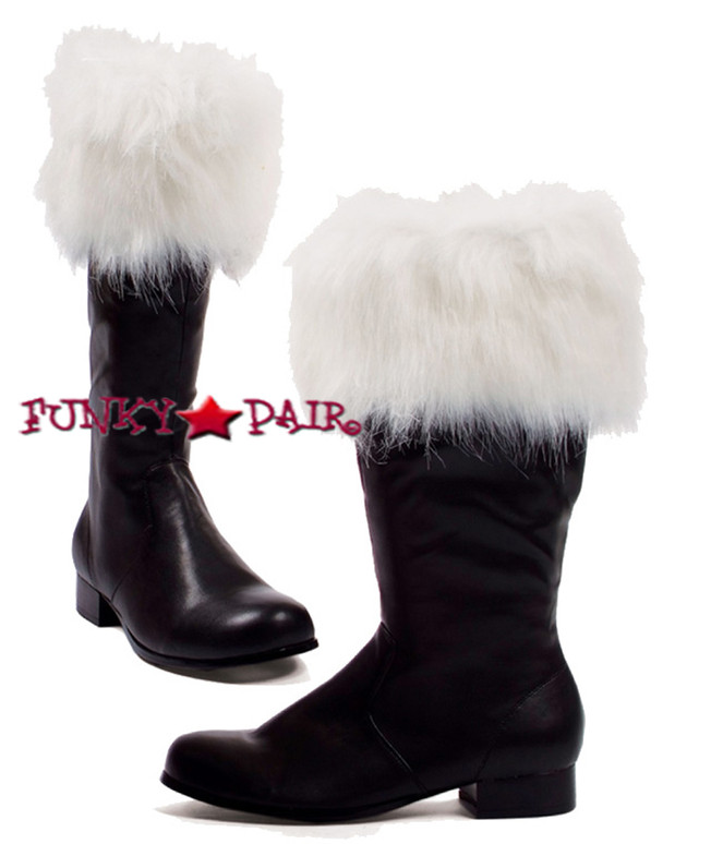 1031 Costume Shoes | Santa 121-NICK, Men's Costume Boot with Fur