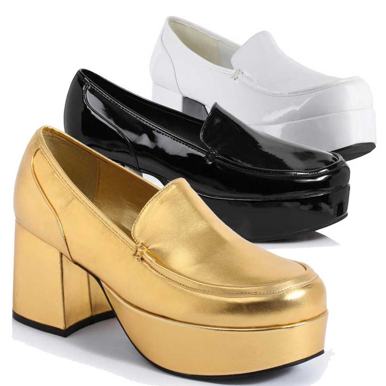 312-Daddio, Men's 3 inch platform Disco shoes