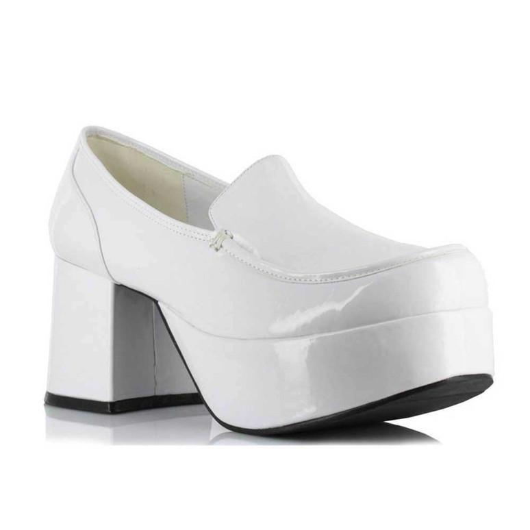 312-Daddio, Men's White 3 inch platform Disco shoes