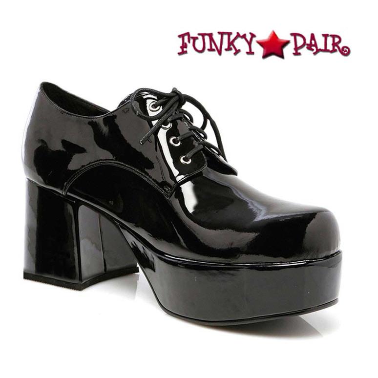 Men's 312-PIMP Black 3 Inch Disco Platform Shoes