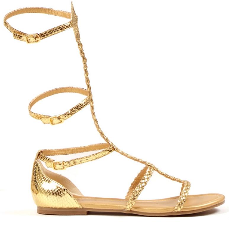 Gold Gladiator Flat COSTUME SHOES 015-CAIRO brand 1031