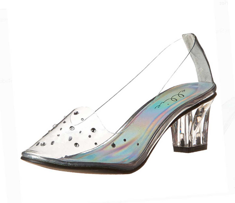 """Women's 2"""" Clear Cosplay Slipper 