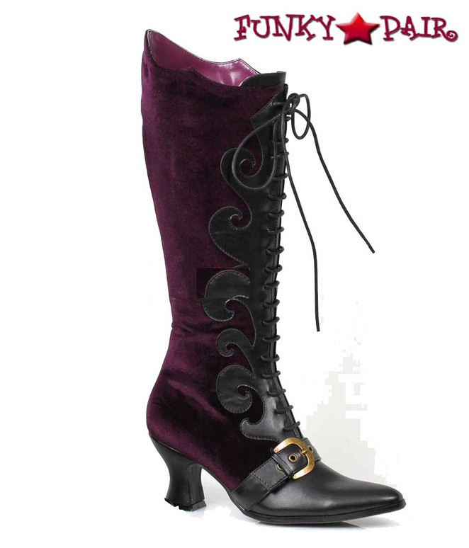 253-Fain, Purple Velvet Knee High Boots | Cosplay Boots
