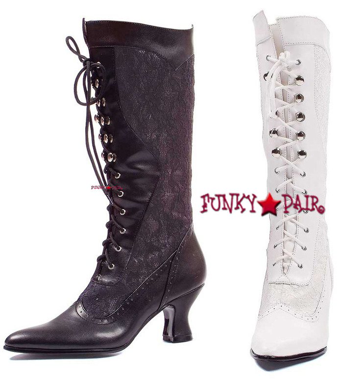 253-Rebecca, 2.5 inch Knee High Boot with Lace,COSTUME BOOTS
